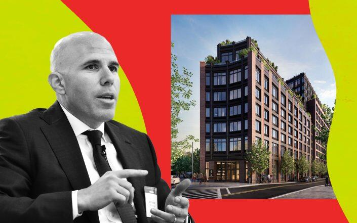 RXR Realty CEO Scott Rechler and 475 Clermont Avenue in Brooklyn (Getty, Douglas Elliman)