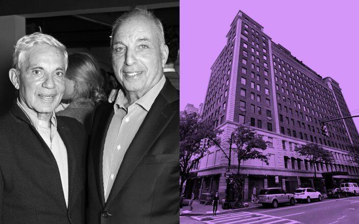 David and Simon Reuben with 828 Madison Avenue (Getty, Google Maps)