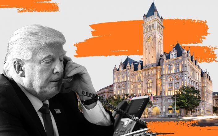 Donald Trump with Trump International Hotel in Washington DC (Getty, Trump Hotels)