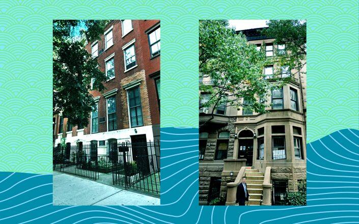 224 West 22nd Street and 163 West 76th Street (Corcoran, Google Maps)