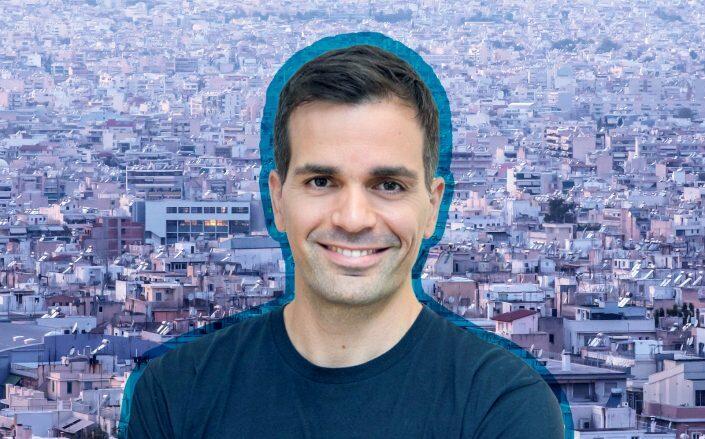 Blueground CEO Alex Chatzieleftheriou (Getty, LinkedIn via Chatzieleftheriou)