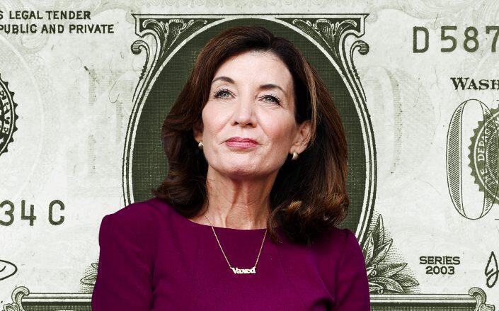 Gov. Kathy Hochul, who announced today that the state has now approved or distributed $1.2 billion in federal rental assistance funds (Getty)