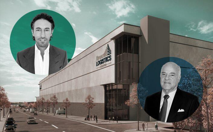 Turnbridge Equities founder Andrew Joblon, KKR co-founder Henry Kravis and the distribution center (Getty, Turnbridge)
