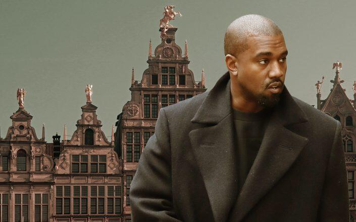 Kanye West and Antwerp, Belgium (Getty)