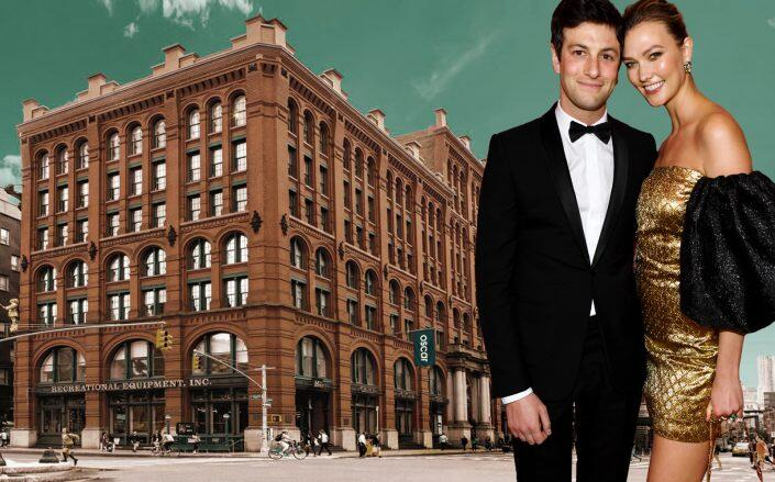 Joshua Kushner and Karlie Kloss with the Puck building (Getty, Kushner Companies)