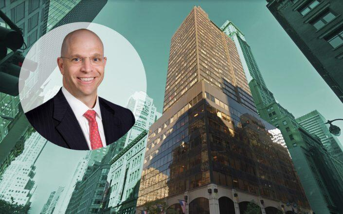 Torchlight Investors CEO Daniel Heflin and 445 Fifth Ave (Google Maps, National Institute of Public Finance)