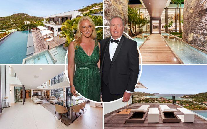 Baroness Michelle Mone and Doug Barrowman with the home (Getty, Nest Seekers)
