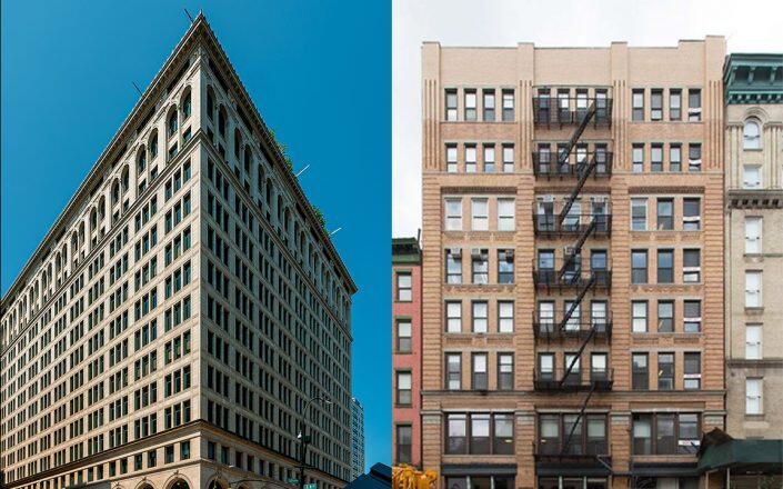 770 Broadway and 324 Lafayette Street (Wikimedia, LoopNet)