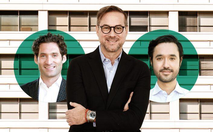 Richard Grossman with Avenue 8 co-founders Justin Fichelson and Michael Martin (Avenue 8, Facebook via Grossman)