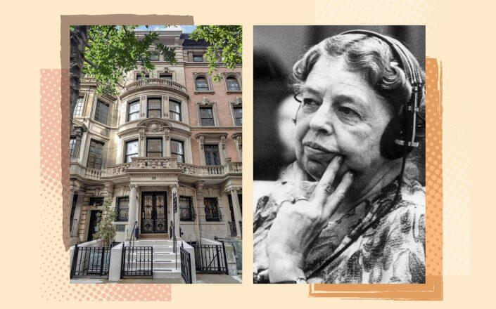 55 East 74th Street and Eleanor Roosevelt (Compass, Getty)