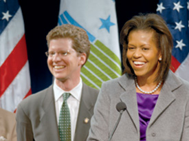 Donovan and First Lady Michelle Obama