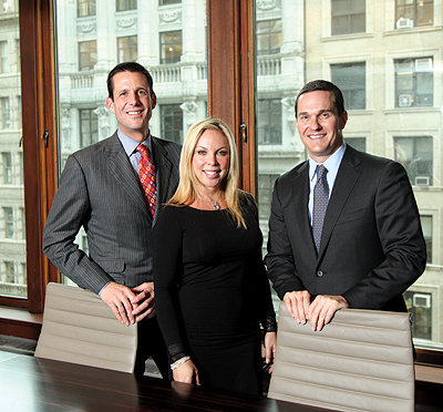 Heiberger's high-profile hires include (from left to right) Jeff Appel from Bank of America, along with Wendy Maitland and Reid Price from Brown Harris Stevens.